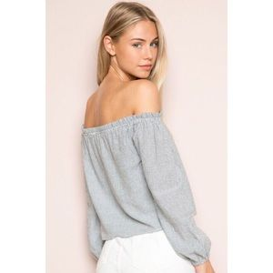 Brandy Melville Striped Theia Off Shoulder Top